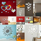 Mirror Tiles Mural Art Removable Wall Stickers Self Adhesive Decor Stick On Home