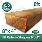 RAILWAY SLEEPERS ***PACK OF 5*** 8ft (195mm x 95mm x 2400mm) TANATONE
