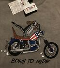🐾NWT MENS KLiBAN Motorcycle CAT Kilban CRAZY SHIRTS Hawaii Crater Dyed Gray S/S