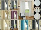 Pair Of Jacquard Ring Top Eyelet Curtains Fully Lined OR Cushion Covers