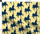 Saddlebred Horse Pony Rack Trot Fabric Printed by Spoonflower BTY
