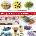 Artificial Flowers Fake Plant Bouquet Home Wedding Party Garden Decoration