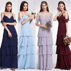 Ever-pretty US Elegant V-neck Evening Party Ruffles Bridesmaids Dresses 07202