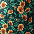 Choice Sunflower print FABRIC COTTON QUILT Great for Masks.