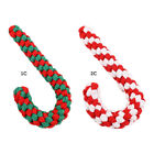 Christmas Candy Cane Pet Dog Chewing Toys Braided Cotton Rope Puppy Teething Toy