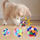 Cat Kitty Pompon Ball Eco-friendly Pet Fetch Chaser Toys for Cats and Dogs