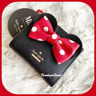 KATE SPADE CAMERON OR MINNIE MOUSE ADALYN SMALL L ZIP BIFOLD WALLET IN VARIOUS