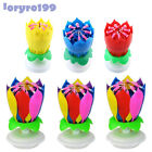 Birthday Candles 3X Musical Candle Lotus Rotating Happy Birthday To Child Adult
