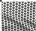 Eight Ball Pool Billiards Black And White Game Fabric Printed by Spoonflower BTY $22.0 USD on eBay