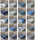 Ambesonne Blue Pattern Flat Sheet Top Sheet Decorative Bedding 6 Sizes