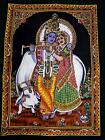 Handmade Rare God Cotton Sequin Wall Beautiful Multi Ethnic Poster Indian Poster