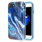 For Apple iPhone 7/8/SE '20 Hybrid Marble Stone Cover Case Rubber TPU Protector
