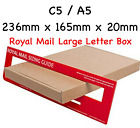 Royal Mail PIP Large Letter Post Box Cardboard Postal Mail Box C4 C5 C6