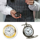 Mens Pocket Watch Mechanical Metal Case Hollow Hands Chain Hand-winding Luxury image