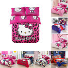 Hello Kitty Cartoon Kids Bedding Sets Duvet Cover Bed Sheet Twin Full Queen Size image