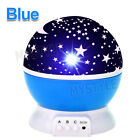 New LED Night Star Sky Projector Light Lamp Rotating Starry Baby Kids Room