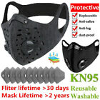Reusable Washable Face Mask With Activated Carbon Filter Double Breathing Valve
