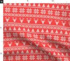 Jumper Holiday Christmas Trendy Sweater Fabric Printed by Spoonflower BTY