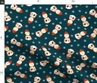 St Nicholas Catholic Santa Clause Christmas Fabric Printed by Spoonflower BTY