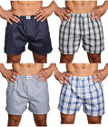3 6 Pack Mens 100% Cotton Boxers Trunk Plaid Stripe Shorts Assort Briefs S~5XL