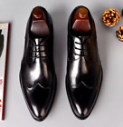 Mens Low Top Business Leisure Real Leather Shoes Pointy Toe Wedding Oxfords New