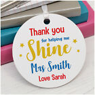 PERSONALISED Teacher Gifts Thank You For Helping Me Shine School Plaque Gifts