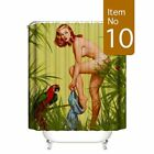 Shower Curtain Art Bathroom Decor Sexy Naked Woman Silhouette Bath Curtains Set