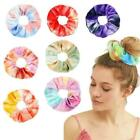 Women Elastic Hair Rope Tie Scrunchie Ponytail Holder 12 Accessories Color V9r3