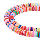 10 Strds Polymer Clay Heishi Beads Flat Disc Colorful Spacers Tiny 4mm 6mm 8mm