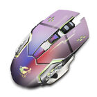 Seven Colors Wireless Charging Gaming Mouse Mute Luminous Mechanical Mouse