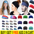 Women Yoga Sport Wide Headband Elastic Boho Hair Band Head Wrap Wristband Turban