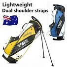 Golf Stand Cart Bag 14-Way Dividers Double Shoulder Straps Organised Outdoor AUS