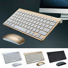 Wireless Keyboard Mouse Combo Set USB Mini 2.4Ghz Fits For Laptop PC Computer