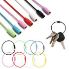 Camp Luggage Tag Holder Screw Lock Cable Wire Keychain Rope EDC Keyring