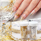 Nail Art Gold Silver Glitter Silk Foil Manicure UV Gel Polish Glitter Decoration