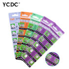 YCDC AG0-AG13 10x/50x/100x Alkaline Coin Cell Button Batteries For Watch 1.55V