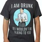 Archer I Am Drunk Or I Wouldn't Be Talking To You T-shirt Dark Gray New With Tag