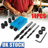 More images of 14x Silverline Pocket Hole Screw Jig c / w Dowel Screw Joint Hole Drill Tools Sets