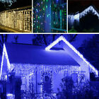 US 13-130FT LED Fairy Icicle Curtain Lights Party Indoor Outdoor Xmas Decor 2019