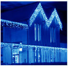 US Blue 13-130FT LED Fairy Icicle Curtain Lights Party In/Outdoor Xmas Lamp 2019