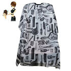 Comb Scissor Print Adult Anti-static Cloth Hairdressing Apron Haircut Cape Welco