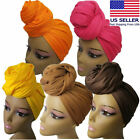 Compy Stretch Long Black Head Wrap African Hair Head Scarf Tie Multi Color 1pcs