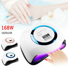 168W Nail Dryer LED Lamp UV Light for Nails Polish Gel Machine Electric Manicure
