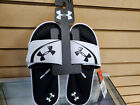 Men's Under Armour Ignite VI Slides White/Black 3022711.100 Brand New with Tags