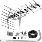 PHILEX WIDEBAND DIGITAL TV AERIAL AND INSTALL KIT, FREEVIEW HD WITH 4G FILTER