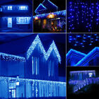 US 13~130FT 96~960 LED Fairy String Icicle Curtain Light Outdoor Christmas Lamp