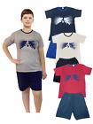 Boys Kids Pyjama Short T-Shirt set 100% Cotton Sizes 7 to 14 Years Summer