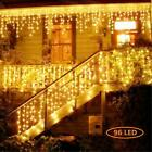 US 96~960 LED Fairy Icicle Curtain Lights Party Indoor Outdoor Xmas Decoration