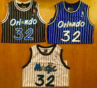 Shaquille O'Neal #32 Orlando Magic Blue/Black/White Mens Throwback Sewn Jersey on eBay