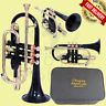 More images of CORNET Bb PITCH BLACK COLOR WITH FREE HARD CASE AND MOUTHPIECE 3 VALVE